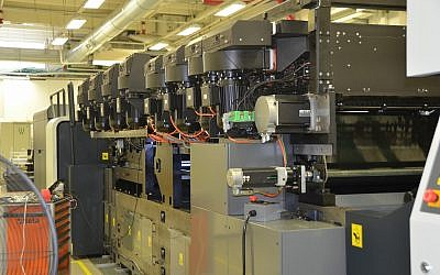 A Landa Digital Printing System S10 Nanographic Printing Press (courtesy Landa Digital Printing)