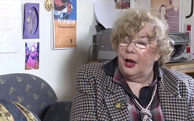 Holocaust survivor and Palestinian rights advocate Felicia Langer interviewed in 2012. (Screen capture: YouTube)