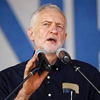 Britain's opposition Labour Party leader Jeremy Corbyn speaks in London on June 30, 2018. (AFP PHOTO / Tolga AKMEN)