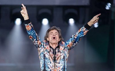 "Mick Jagger of The Rolling Stones performs at a concert at Mercedes Benz-Arena in Stuttgart, southern Germany, on June 30, 2018, as part of their ""No Filter"" tour. ( AFP PHOTO / dpa / Sebastian Gollnow)"