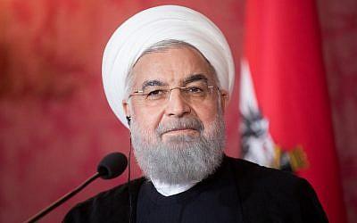 Iranian President Hassan Rouhani at the Hofburg Palace in Vienna on July 4, 2018. APA/GEORG HOCHMUTH/AFP)