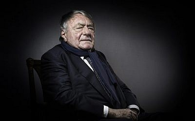 In this photo taken on February 11, 2016 French writer, journalist and movie producer Claude Lanzmann poses in Paris on February 11, 2016. (AFP PHOTO / JOEL SAGET)