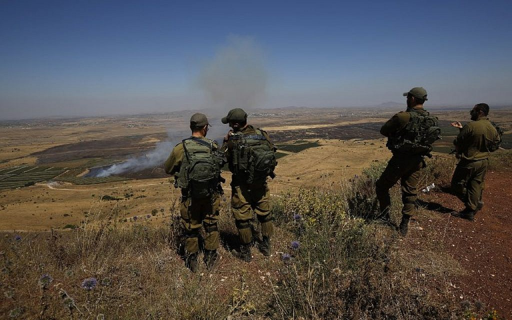 IDF troops mistakenly open fire on suspected drone in Golan Heights