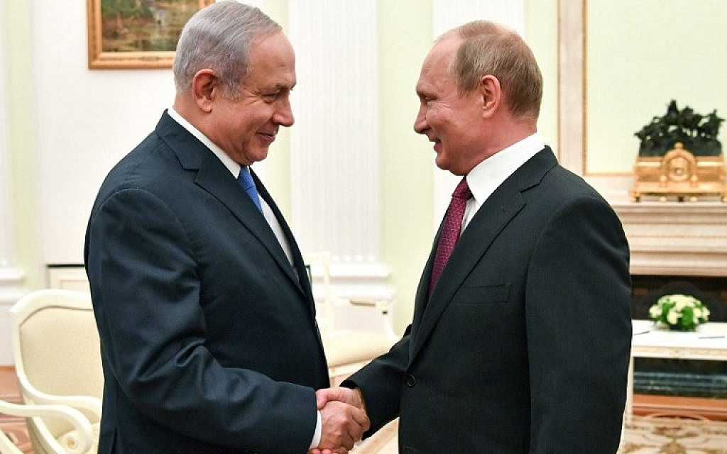 Pledging not to oust Assad, Netanyahu asks Putin to 'get Iranians out' of Syria