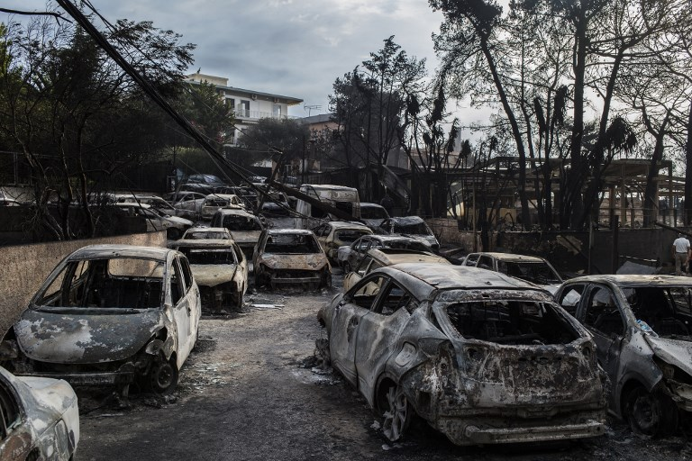 Devastating photos show the impact of deadly wildfires in Athens