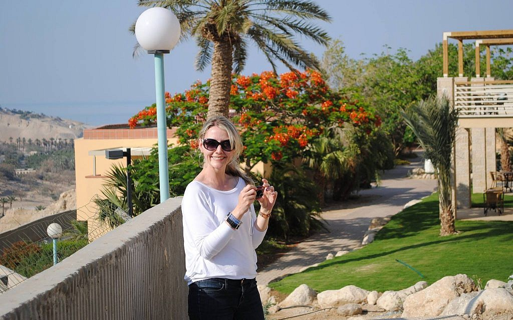 Chantal Ringuet visiting Ein Gedi in 2012. (Courtesy)