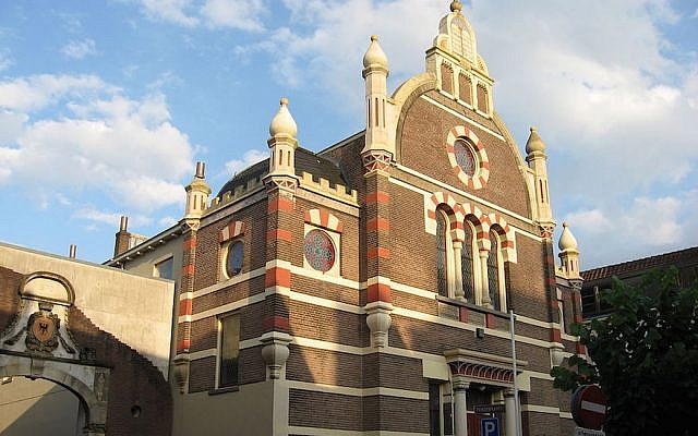 The Great Synagogue of Deventer in the Netherlands was dedicated in 1893. (Martie Ressing/Wikimedia Commons/via JTA)