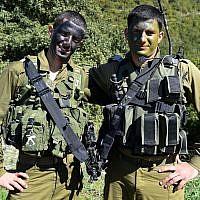 IDF officer Amir Jamal (L), a member of Israel's Druze minority community. (Israel Defense Forces/Flickr/CC BY-NC 2.0)