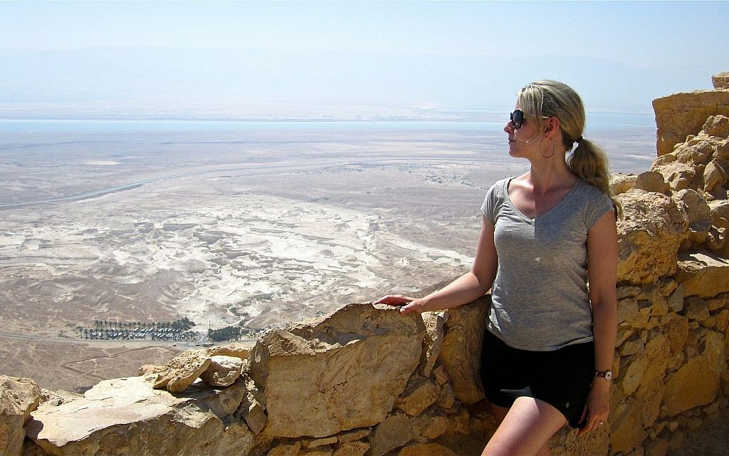 Chantal Ringuet at Masada during a 2012 Israel visit. (Courtesy)