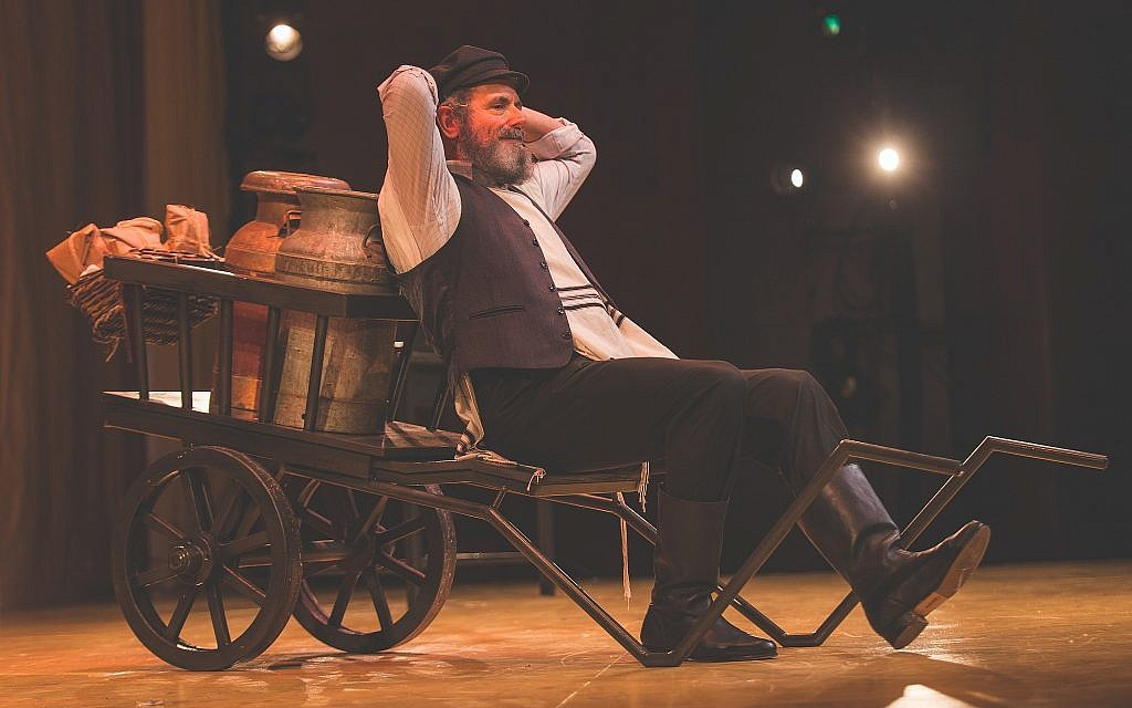 Steven Skybell as Tevye singing 'If I Were a Rich Man' in the National Yiddish Theatre Folksbiene's production of 'Fiddler on the Roof.' (Victor Nechay/ ProperPix.com)