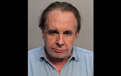 Walter Stolper, 72, faces a charge of first-degree attempted arson. (Miami Beach Police/Twitter via JTA)