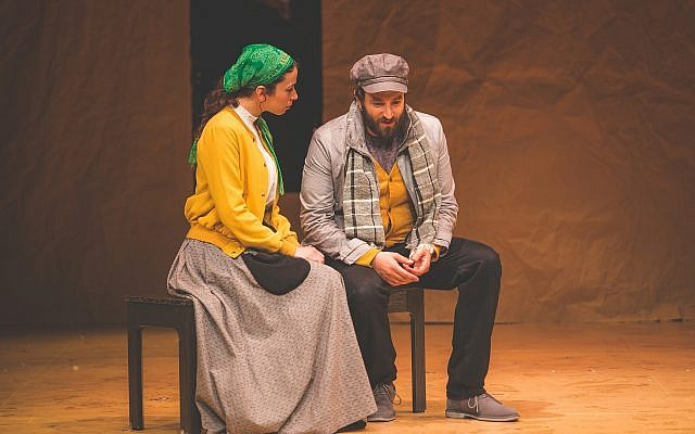 Stephanie Lynne Mason and Daniel Kahn in  the National Yiddish Theatre Folksbiene's production of 'Fiddler on the Roof.' (Victor Nechay/ ProperPix.com)