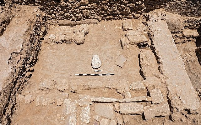The game room in the northern Gedera excavation. (Assaf Peretz, Israel Antiquities Authority)