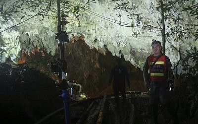 Thai officials clear media from cave site 'to help' trapped boys
