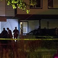 Boise police investigate at a crime scene near the corner of State and Wyle Streets in Boise just before 11:00 p.m., June 30, 2018. (Darin Oswald/Idaho Statesman via AP)