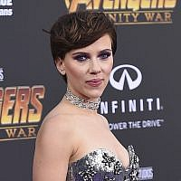 "In this April 23, 2018 file photo, Scarlett Johansson arrives at the world premiere of ""Avengers: Infinity War"" in Los Angeles. Johansson has pulled out of the film ""Rub & Tug"" after her plans to portray a transgender man prompted a backlash. (Photo by Jordan Strauss/Invision/AP)"