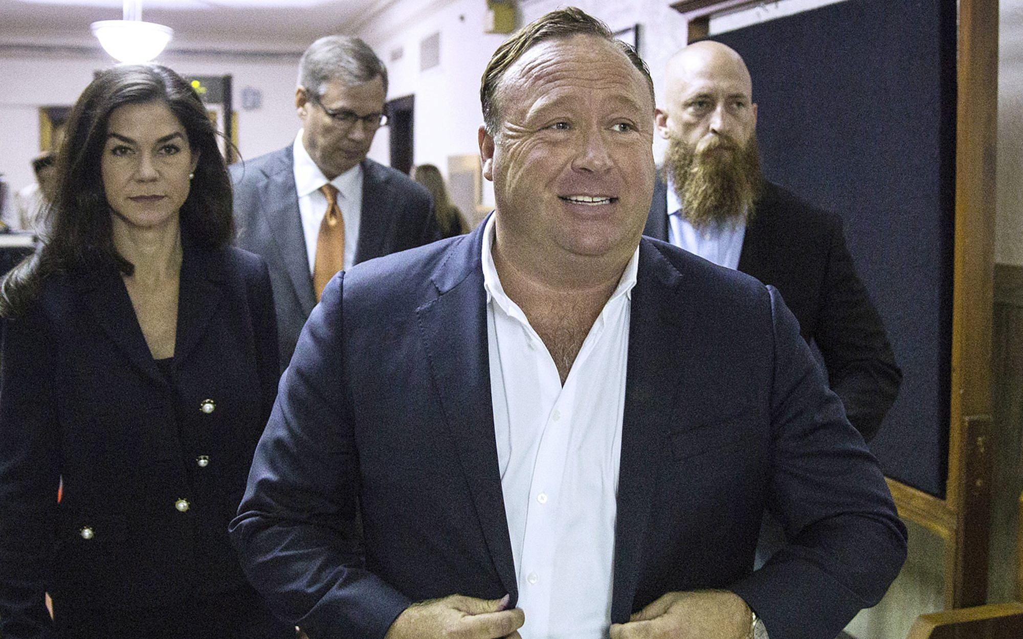 2017 'Infowars&#039 host Alex Jones arrives at the Travis County Courthouse in Austin Texas