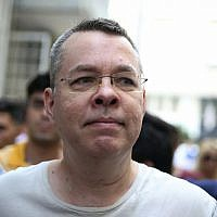 Andrew Craig Brunson, an evangelical pastor from Black Mountain, North Carolina, arrives at his house in Izmir, Turkey, on July 25, 2018. (AP Photo/Emre Tazegul)