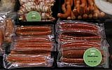 In this photo taken Thursday, April 19, 2012, sausages are displayed in a butcher shop in Klagenfurt, in the southern Austrian province of Carinthia. (AP/Darko Bandic)