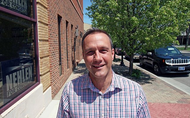 Paul Nehlen, a Republican, stands outside his campaign office on May 19, 2016, in Kenosha, Wisconsin,. (AP/Carrie Antlfinger)