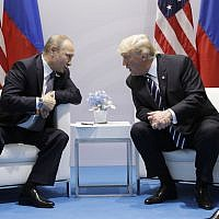 President Donald Trump meets with Russian President Vladimir Putin at the G20 Summit, Friday, July 7, 2017, in Hamburg. (AP/Evan Vucci)