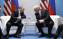 President Donald Trump meets with Russian President Vladimir Putin at the G20 Summit, Friday, July 7, 2017, in Hamburg. (AP/Evan Vucci)