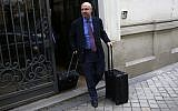 William Browder, a US-born Britain-based financier, leaves the anti-graft prosecutor's office in Madrid, Wednesday, May 30, 2018 (AP Photo/Francisco Seco)
