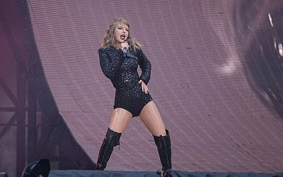 Taylor Swift performs on stage in concert at Wembley Stadium in west London, Friday, June 22, 2018. (Photo by Joel C Ryan/Invision/AP)