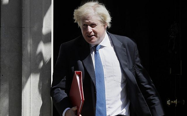 In this file photo dated June 13, 2018, Britain's Foreign Minister Boris Johnson leaves 10 Downing Street in London. (AP Photo/Kirsty Wigglesworth, File)