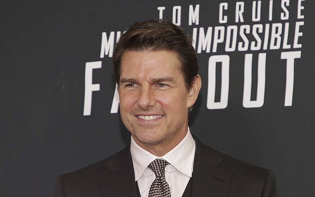 """Tom Cruise attends the US premiere of """"Mission: Impossible - Fallout"""" at The Smithsonian National Air and Space Museum on Sunday, July 22, 2018 in Washington. (Brent N. Clarke/Invision/AP)"""