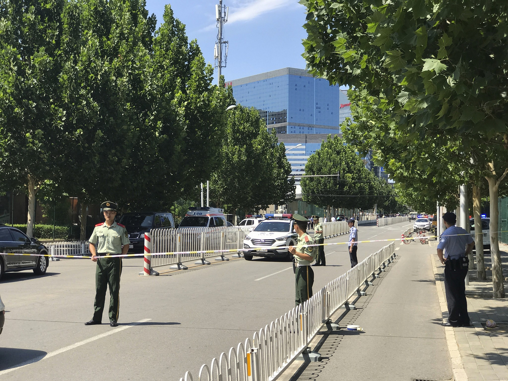 Suspected self-immolation near US Embassy in Beijing, according to Chinese state media