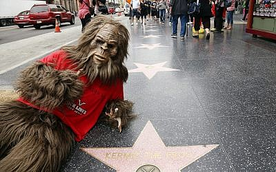 Sasquatch and Jack Link's celebrate National Jerky Day at Hollywood and Highland in Los Angeles, June 12, 2013. (Matt Sayles/Invision for Jack Link's/AP Images)