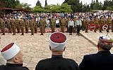 Illustrative: A memorial service for Israeli soldiers at the military cemetery in the Druze village of Isfiya in northern Israel. (Government Press Office)