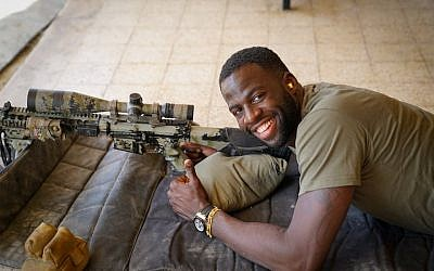 Draymond Green seemed to have a good time in the Jewish state. (Or Shkedy/Twitter via JTA)