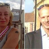 Composite photo of 44-year-old Dawn (L) Sturgess and 45-year-old Charlie Rowley. (Facebook)