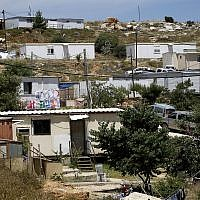 View of the Givat Asaf outpost, near the Beit El settlement in the West Bank. (Miriam Alster/ Flash 90)