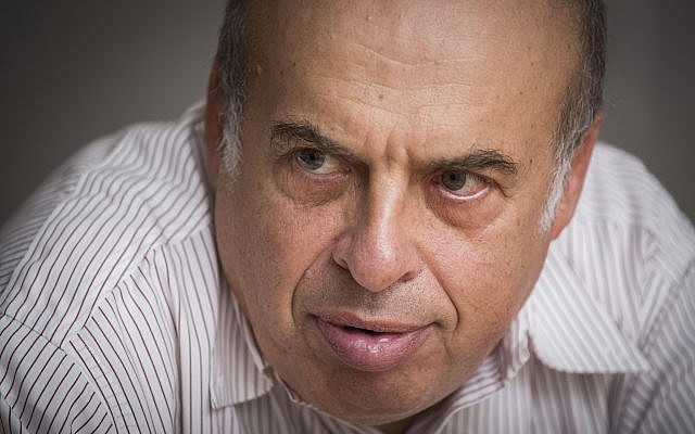 Natan Sharansky, the chairman of the Jewish Agency, at his office in Jerusalem (Hadas , on September 22, 2014. (Hadas Parush/Flash90)