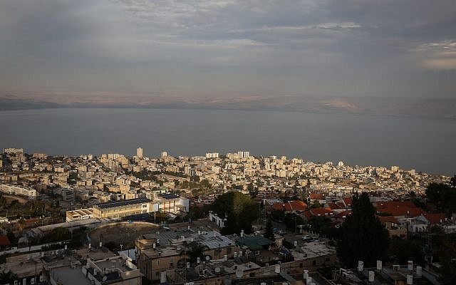 View of neighborhoods in the city of Tiberias on December 17, 2017. (David Cohen/Flash90)