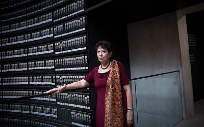 Dina Porat, chief historian of Yad Vashem Holocaust memorial, at the museum on May 29, 2018. (Miriam Alster/Flash90)