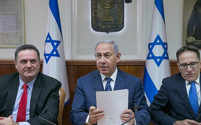 Prime Minister Benjamin Netanyahu at the weekly cabinet meeting at the Prime Minister's Office in Jerusalem on July 1, 2018. (Ohad Zwigenberg/Pool)