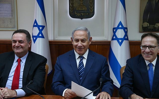 Prime Minister Benjamin Netanyahu arrives at the weekly government conference at the Prime Minister's Office in Jerusalem on July 1, 2018. (Ohad Zwigenberg/POOL)