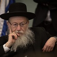 Health Minister Yaakov Litzman attends a Health Committee meeting at the Knesset on July 2, 2018. (Hadas Parush/Flash90)