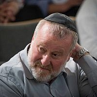 Attorney-General Avichai Mandelblit attends a conference at the Van Leer Jerusalem Institute on July 2, 2018. (Yonatan Sindel/Flash90)