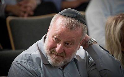 Attorney-General Avichai Mandelblit attends a conference at the Van Leer Jerusalem Institute on July 2, 2018. (Yonatan Sindel/Flash90)