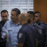 Gonen Segev seen at the Jerusalem District Court on July 5, 2018. (Yonatan Sindel/Flash90)