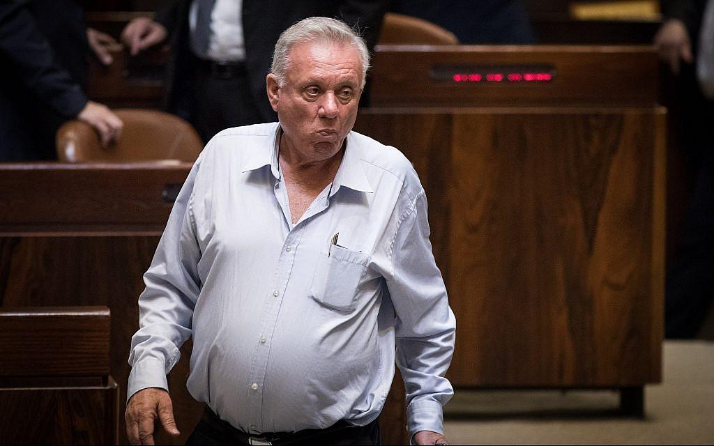 Zionist Union MK Eitan Broshi is seen at the Knesset on July 18, 2018. (Hadas Parush/Flash90)