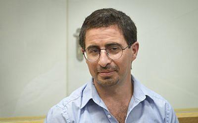 Alon Kastiel at the Tel Aviv District court on July 23, 2018. (Flash90)