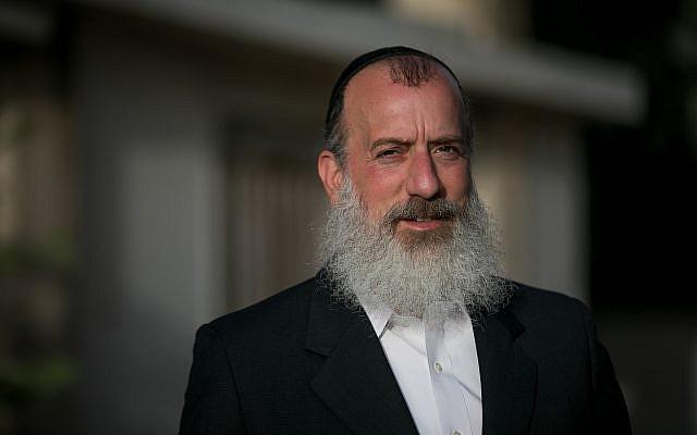Jerusalem deputy mayor and mayoral candidate Yossi Deitch seen before a meeting in Jerusalem on July 24, 2018. (Yonatan Sindel/Flash90)