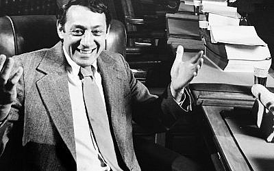 Harvey Milk before a meeting of the San Francisco Board of Supervisors in 1978. (Courtesy of Harvey Milk-Scott Smith Collection, San Francisco Public Library)