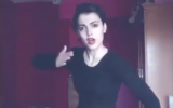 Maedeh Hojabri of Iran dances in a video uploaded to social media. She was detained by Iranian authorities over the videos. (Screen capture: Twitter)